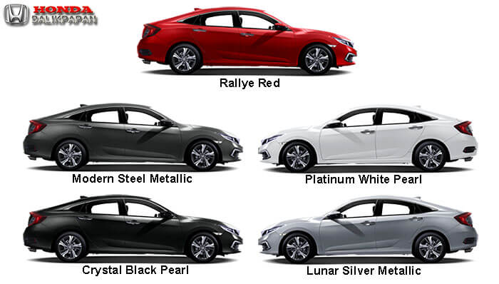 Pilihan Warna New Honda Civic